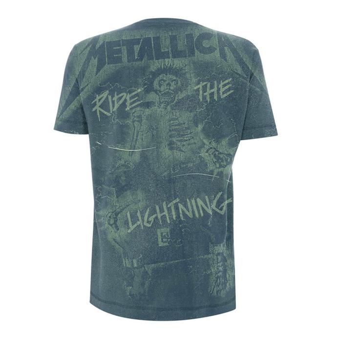 tričko pánské Metallica - Ride The Lightning A/O - Indigo