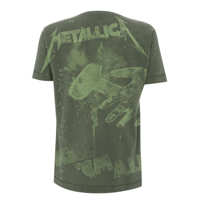 tričko pánské Metallica - Kill 'Em All - Olive Green