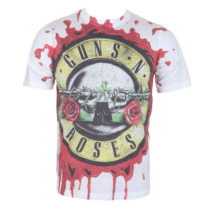tričko pánské Guns N' Roses - Blood Drip - White - ROCK OFF