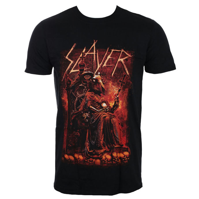 tričko pánské Slayer - Goat Skull - Black - ROCK OFF