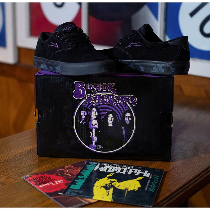 boty Lakai x Black Sabbath - Master of Reality - Riley 3 - black suede