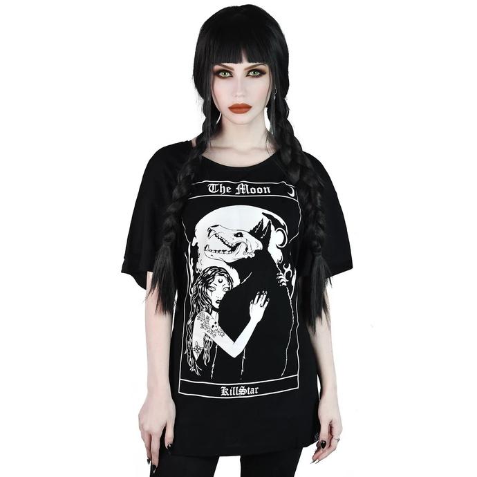 tričko dámské KILLSTAR - Wolfmoon Relaxed - BLACK