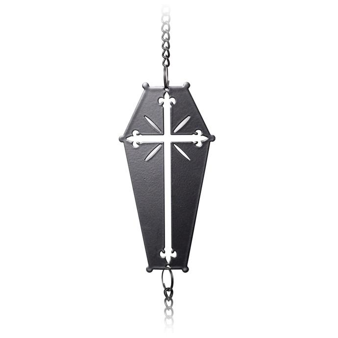 zvonkohra (dekorace) ALCHEMY GOTHIC - Coffin Cross