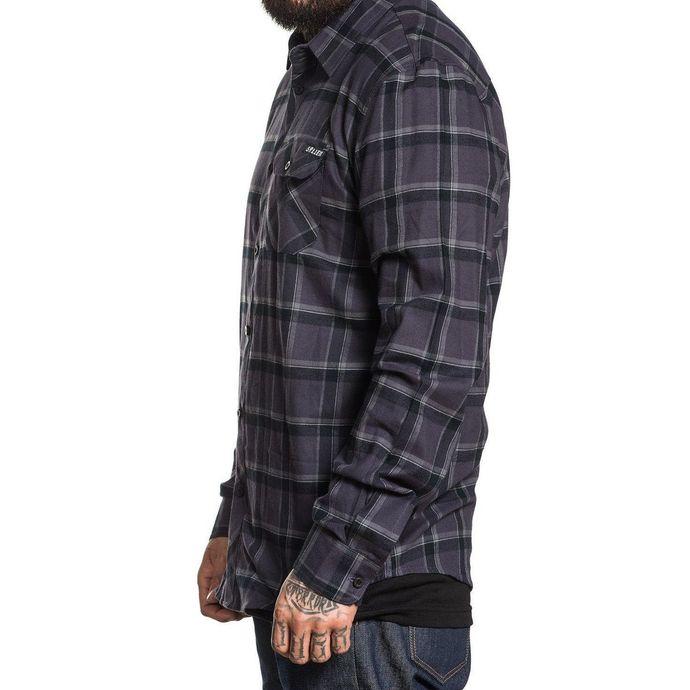 košile pánská SULLEN - GUNMETAL - BLACK/STEEL
