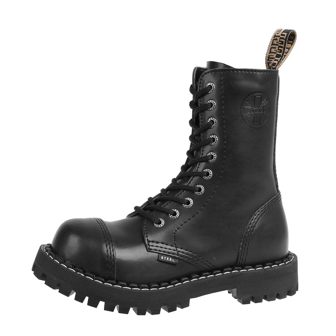 boty zimní STEEL - 10 dírkové - black