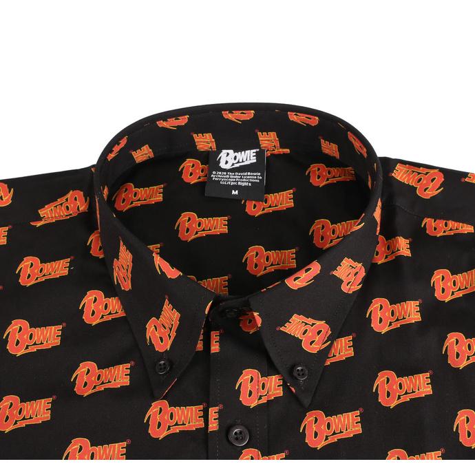 košile pánská David Bowie - Logo - BL - ROCK OFF