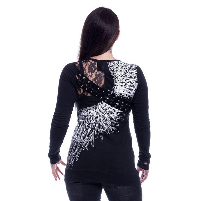 tričko dámské s dlouhým rukávem VIXXSIN - SHADOW ANGEL - BLACK