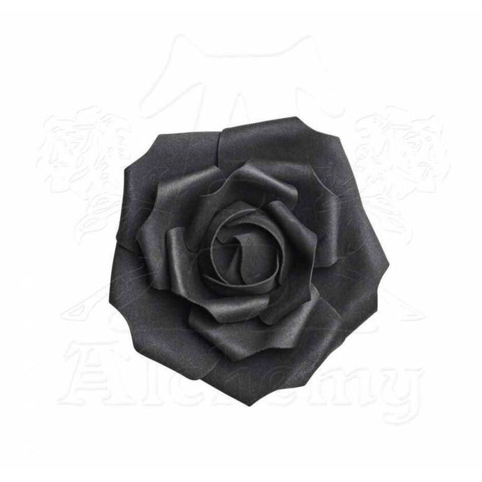 dekorace ALCHEMY GOTHIC - Small Black Rose Head
