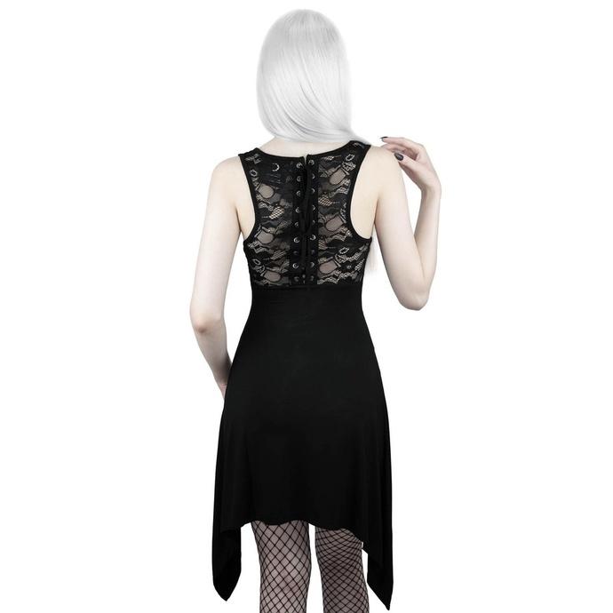 šaty dámské (tunika) KILLSTAR - Spellcaster Lace-Up - BLACK