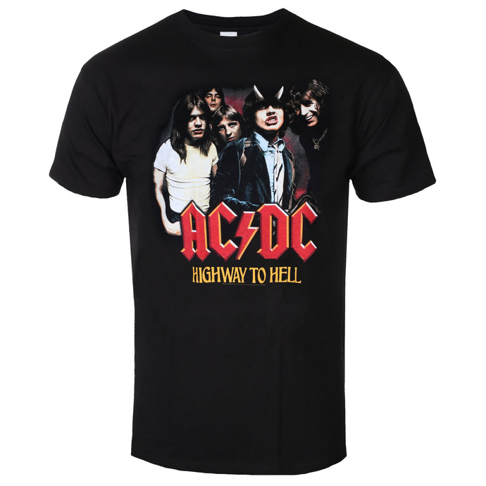tričko pánské AC/DC - Highway To Hell - GrouP - Black