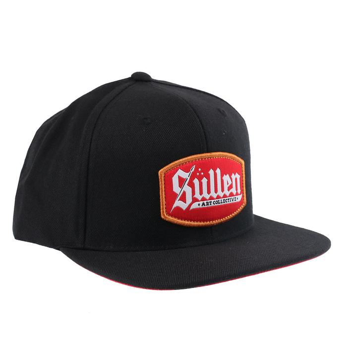 kšiltovka SULLEN - BLAQ LETTER - BLACK/RED