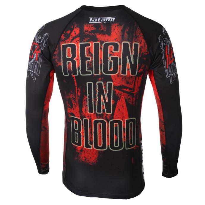 tričko pánské s dlouhým rukávem (technické) TATAMI - Slayer - Reign In Blood - Rash Guard