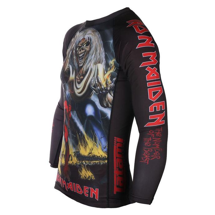 tričko pánské s dlouhým rukávem (technické) TATAMI - Iron Maiden - Number of the Beast - Rash Guard