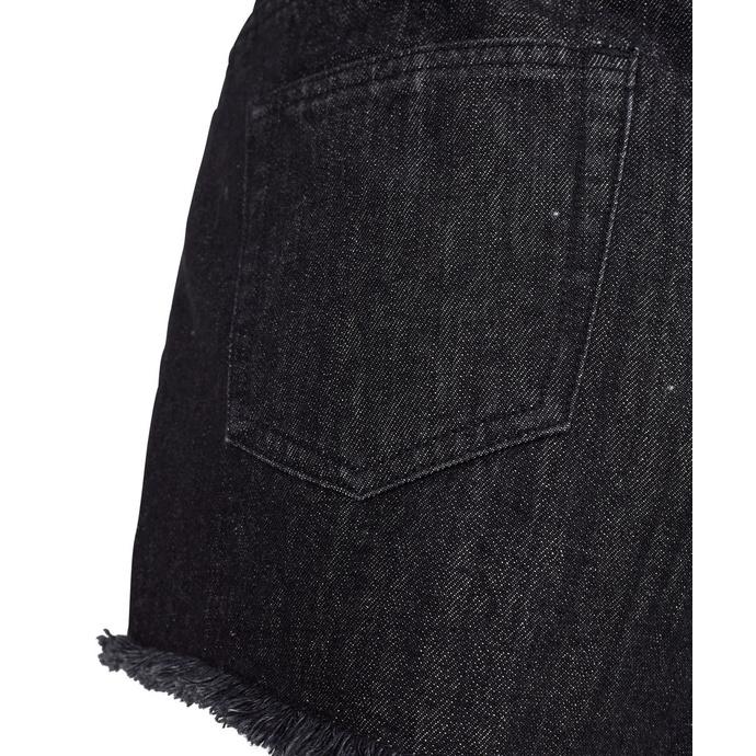 kraťasy dámské URBAN CLASSICS - Denim Hotpants - black washed