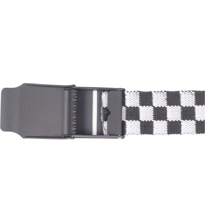 pásek URBAN CLASSICS - UC Canvas Checkerboard - black/white