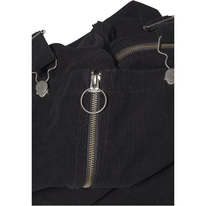 šaty dámské URBAN CLASSICS - Corduroy Dungaree - black