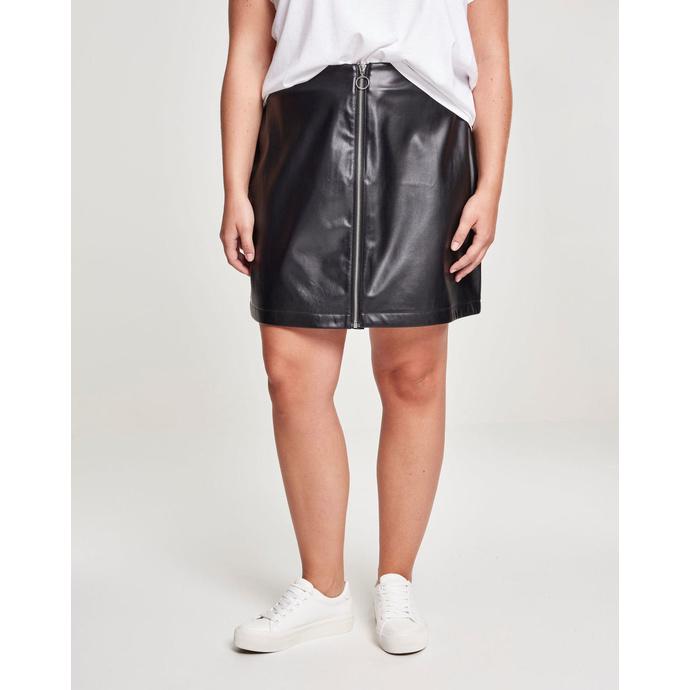 sukně dámská URBAN CLASSICS - Faux Leather - black