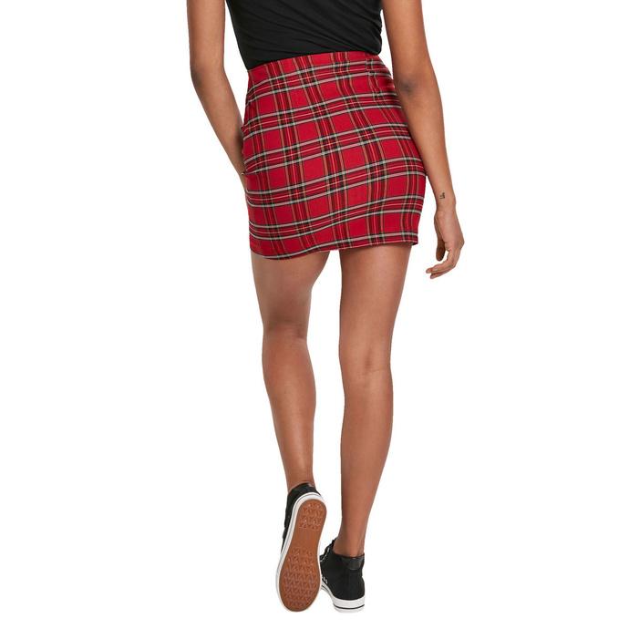 sukně dámská URBAN CLASSICS - Checker - red/blk