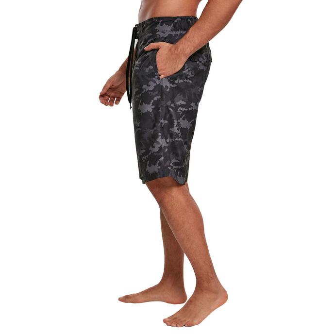 kraťasy pánské (plavky) URBAN CLASSICS - black camo