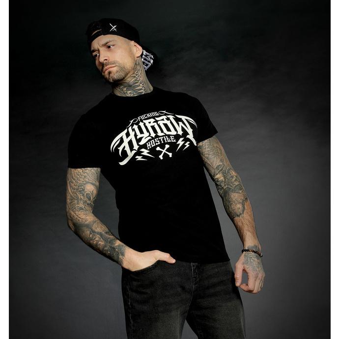 tričko pánské HYRAW - Graphic - noir LOGO BLANC