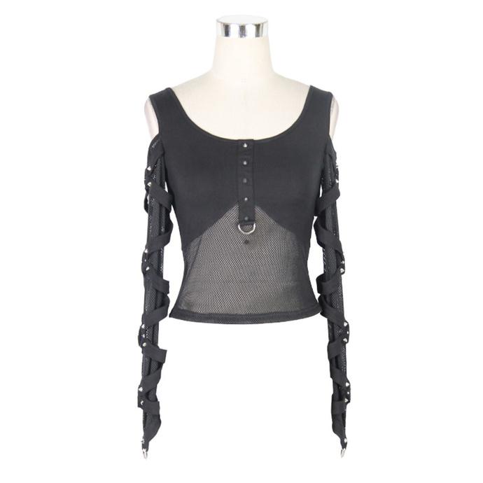 tričko dámské s dlouhým rukávem DEVIL FASHION