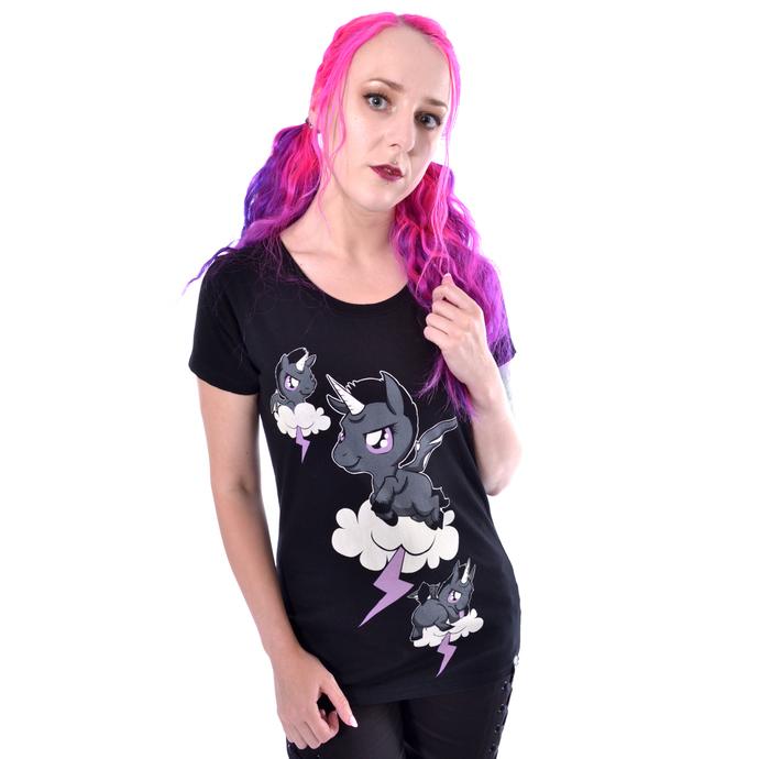 tričko dámské Cupcake Cult - UNICORN CLOUD - BLACK
