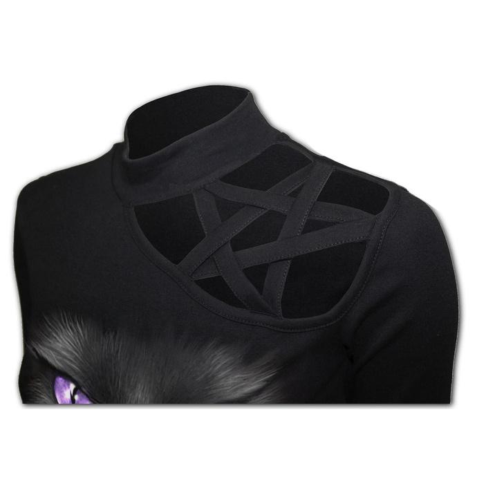 tričko dámské SPIRAL - BLACK CAT - Pentagram