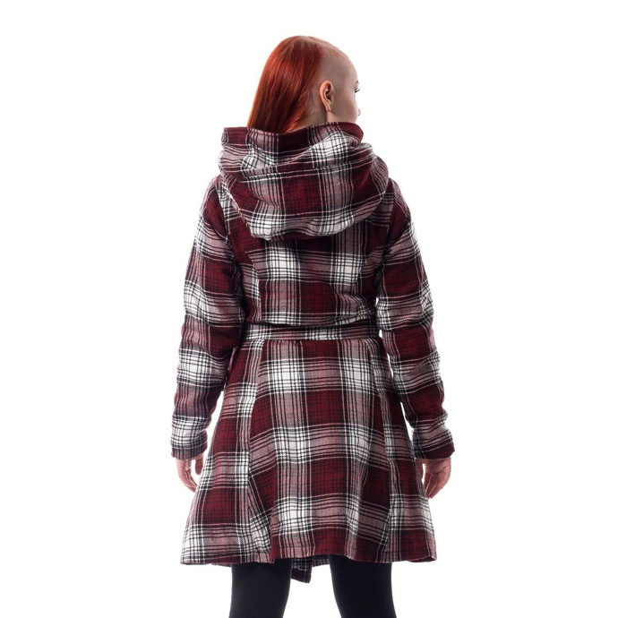 kabát dámský Poizen Industries - VAIL - RED/WHITE CHECK