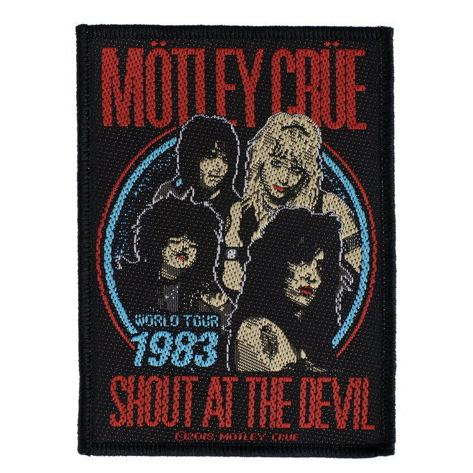 nášivka Mötley Crüe - Shout At The Devil - RAZAMATAZ