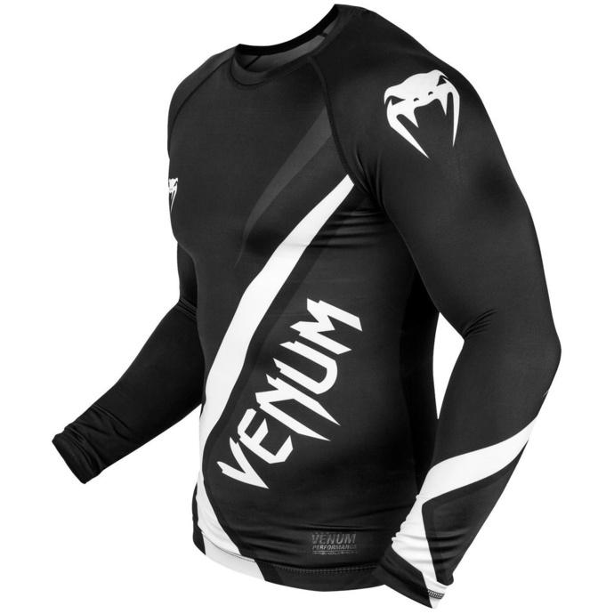 tričko pánské s dlouhým rukávem (termo) VENUM - Contender 4.0 Rashguard - Black/Grey-White