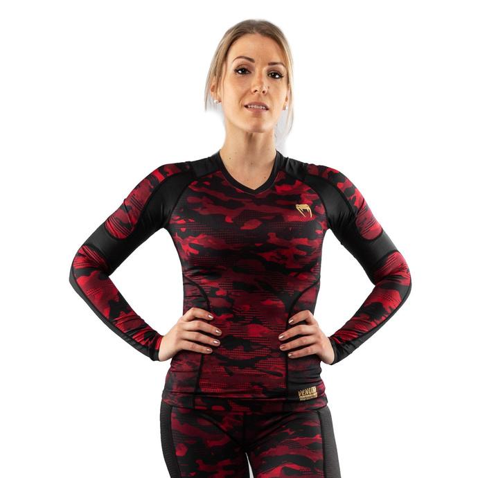 tričko dámské s dlouhým rukávem (termo) VENUM - Defender - Rashguard - Black/Red