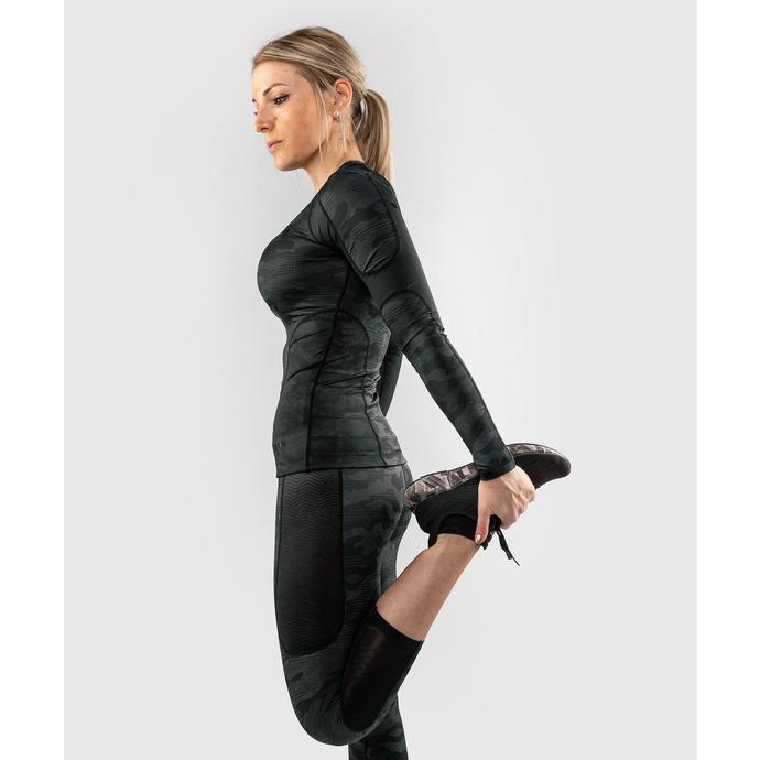 tričko dámské s dlouhým rukávem (termo) VENUM - Defender - Rashguard - Black/Black