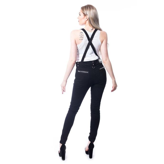 overal dámský (kalhoty) Vixxsin - VIA DUNGAREES - BLACK