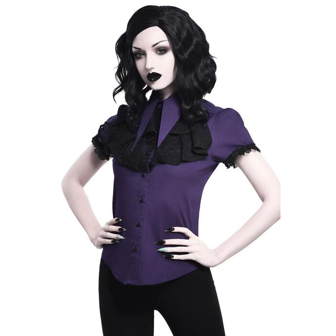 košile dámská KILLSTAR - Meave Rufe - PLUM