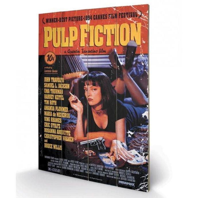 dřevěný obraz Pulp Fiction - (Cover) - PYRAMID POSTERS