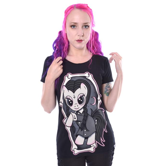 tričko dámské Cupcake cult - WEDNESDAY PONY - BLACK