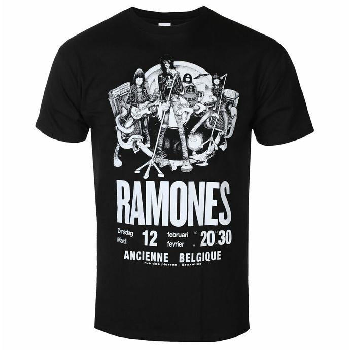 tričko pánské Ramones - Belgique - ROCK OFF