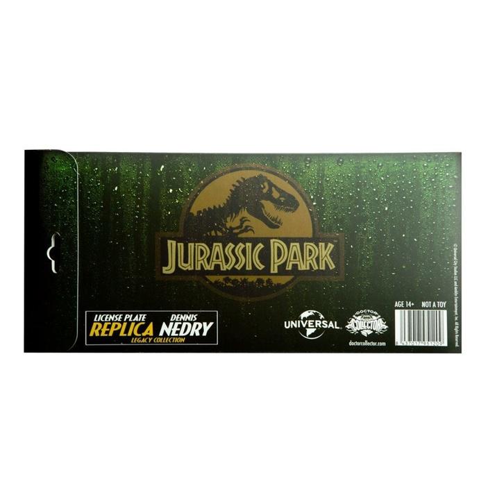 cedule Jurassic Park - Replica 1/1 Dennis Nedry License Plate
