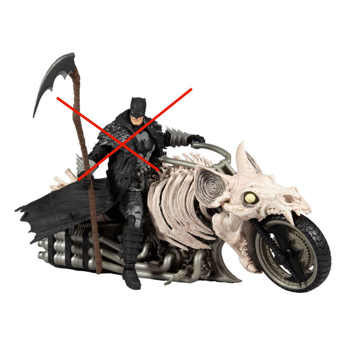 figurka Dark Nights - Death Metal - DC Multiverse Vehicle Batcycle
