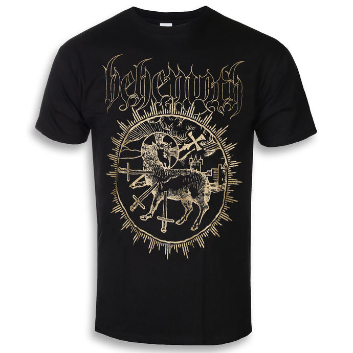 tričko pánské Behemoth - Inverted Cross - Black - KINGS ROAD