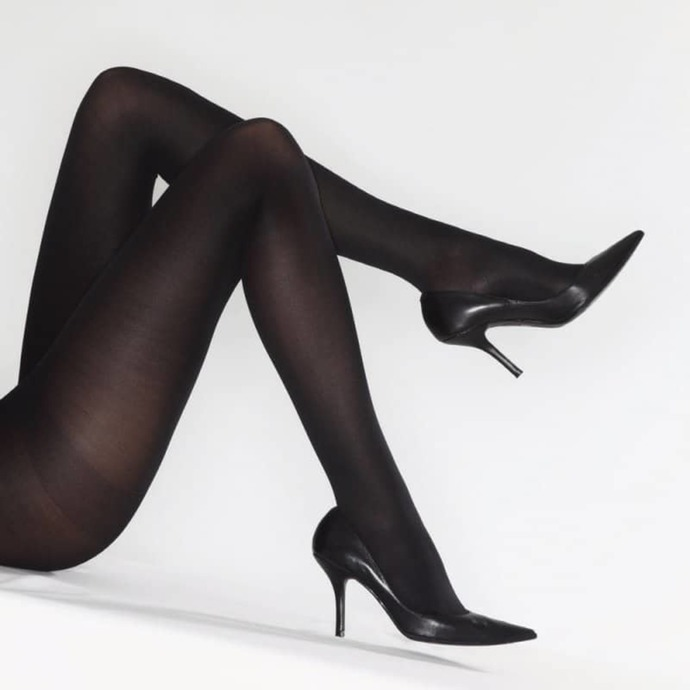 punčocháče LEGWEAR - 70 denier opaque - black
