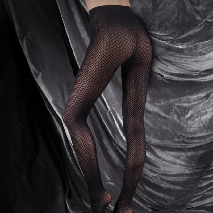 punčocháče LEGWEAR - couture ultimates - the catherine - black