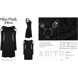 šaty dámské PUNK RAVE - Nemo - WQ-346/BK