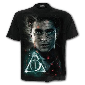 tričko pánské SPIRAL - HARRY POTTER - DEATHLY HALLOWS - Black, SPIRAL