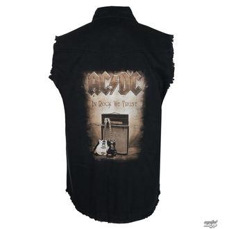 košile pánská bez rukávů (vesta) AC/DC - IN ROCK WE TRUST - RAZAMATAZ - POŠKOZENÁ