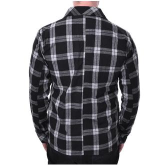 košile pánská Chemical black - EZRA - WHITE CHECK