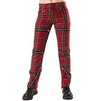 kalhoty dámské Black Pistol - Destroy Pants Tartan Red