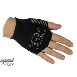 rukavice dámské bezprsté nylonové Lebka 1