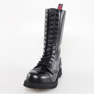 boty NEVERMIND - 14 dírkové - Black Polido