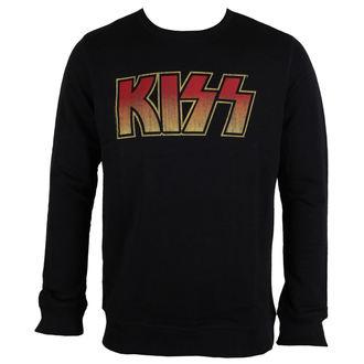 mikina pánská Kiss - Logo - Black - AMPLIFIED